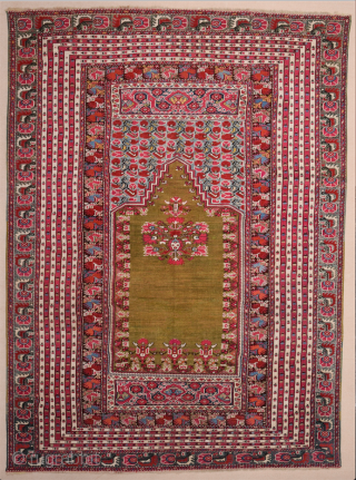 19th Century Anatolian Ghordes Prayer Rug It's in very good condition Size 155 x 212 cm