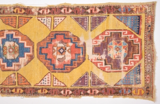 Late 18th Or Early 19th Century Konya May Cappadokia Rug Size 85 x 220 Cm.It Has Only Some Small Old Repairs.
