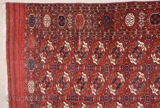 Attributed to Turkmenistan, Central Asia Mid. 19th Century Tekke Main Rug.It's in Good Condition 205 x 310 cm