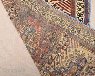 19th Century Shirvan Zejwa Rug Size 108 x 155 Cm.As Found İt.