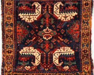 Circa 1860s Persian Kurdish Bag Size 54 x 54 Cm.It Has Nice Details.