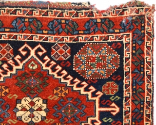 19th Century Lovely Qashqai Bag Size 69 x 53 Cm