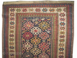 "Fachralo-Kazak Caucasian knotted circa in 1918 antique, collectors item, Size: 258 x 102 (cm) 8' 6"" x 3' 4""  carpet ID: RS-222
