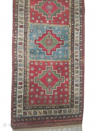 Konya Turkish, knotted circa in 1910, antique, collectors item, 110 x 348 cm, carpet ID: LUB-8