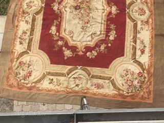 Aubusson French, woven circa in 1900, antique. 415 x 505 cm, carpet ID: LUB-12