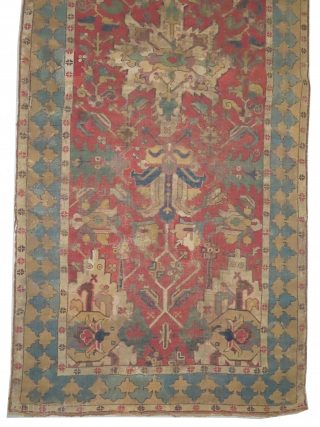 """Tschelaberd Caucasian, knotted circa in 17th century, antique, collector's item, museum standard, 298 x 131 (cm) 9' 9"""" x 4' 4""""  carpet ID: CC-22 The knots, the warp and the weft threads  ..."""