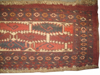 "Beshir Turkmen circa 1910, antique, collector's item, Size: 172 x 32 (cm) 5' 8"" x 1' 1"" 