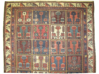 "Baktiar Persian circa 1890 antique. Size: 206 x 140 (cm) 6' 9"" x 4' 7""  carpet ID: K-3967
