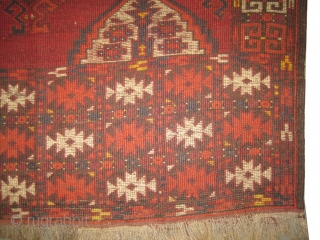"Turkmen four season, circa 1865 antique, with Tschaudor design, collectors item. Size: 182 x 129 (cm) 6'  x 4' 3""  carpet ID: K-4418