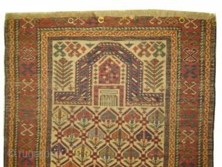Dagstan Caucasian circa 1905 antique, collectors item. Size: 76 x 128cm, carpet ID: MOI-1 Vegetable dyes, thick pile, the black color is oxidized and slightly shorter pile than the rest, from the two  ...