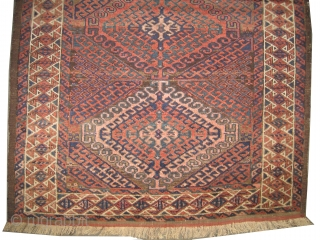 "Belutch Persian circa 1905 antique. Collector's item. Size: 163 x 95 (cm) 5' 4"" x 3' 1""  carpet ID: M-382