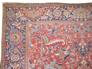 "Heriz Persian circa 1905 antique.  Size: 385 x 310 (cm) 12' 7"" x 10' 2""  carpet ID: P-6069