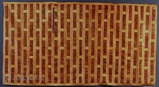Exhibited at the Norton Museum of Art in West Palm Beach in 2013, this rare c1800 Japanese kesa for a high ranking Buddhist priest, 42 x 80 inches (107 x 152 cm).  ...