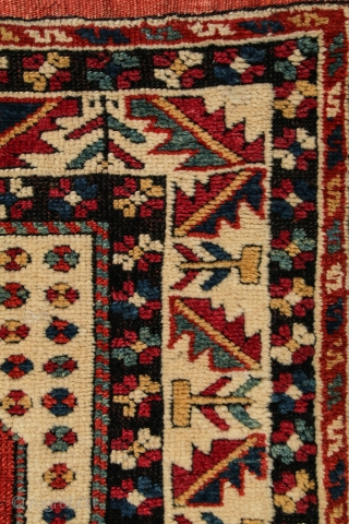 Western Anatolia, Prayer rug, Bergama/Ezine region, 3.3. x 3.8, c 1850, or before; From a notable private collection and never before offered for sale. Published in ATLANTIC COLLECTIONS, p. 46, fig. 46  ...