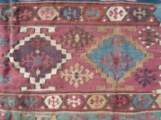 Very nice kilim with lovely colours