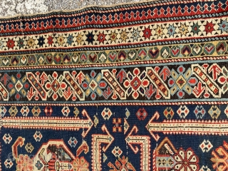 Last quarter XIXth century a very beautiful and important KUBA antique carpet in good condition for the age. PALACE size for a Caucasus carpet:  m. 4,66 by m. 1.41. More info and photos on  ...