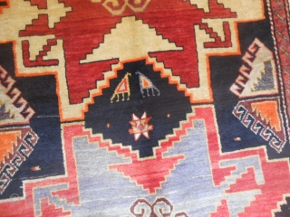 274 x 155 cm Antique KAZAKH Lesghi in very good condition. All wool and with any problems, full pile and all original. More pictures on request.  WARM GREETING from COMO !