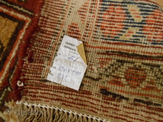 396 x 210 cma ANTIQUE  EAST-TURKESTAN carpet Bejinning of XX th century. Knotted in the OASI of KASHGAR. Perfect = all original  Xinjiang PALACE carpet. More pictures on request.  ALL the best   from lake of  ...