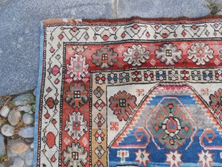 153 x 87 cm. Antique Karabagh from Caucasus. Very good condition. Wool on wool. Original pattern and colours. Armenian Karabagh.   Good look !  HAS been sold ! ===============