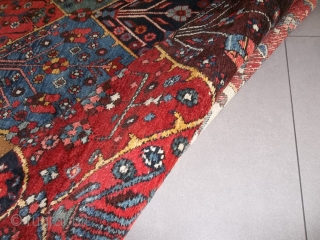 Oriental antique carpet knotted in the Chahar-Mahal-va-Bachtyari.