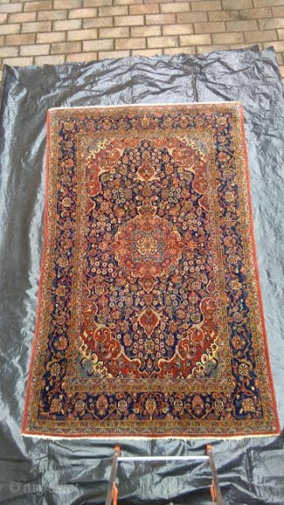 Antique pieca knotted in the Persian city of KASHAN.
