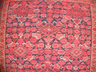 198 x 126 cm Antique fine MALAYER in very good condition.  ALL ORIGINAL. Amazing red fiel fro this Persian antique piece. More pictures on request. REGARDS   from COMO !