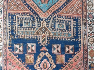 Oriental antique carpet knotted in Persian Azerbaijan.