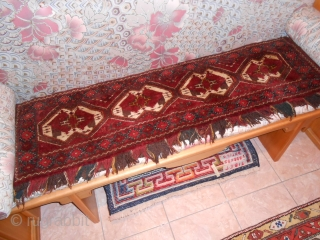 137 x 40  cm Antique Chodor panel in perfect condition Excellent wool and very fastened colors for this Turkmen panel. Other info or photos on request. GREETING   from COMO !