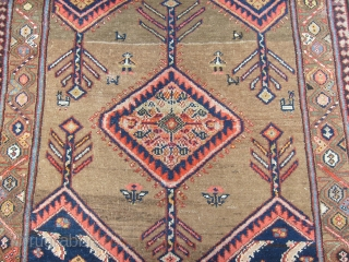 333 x 134 cm  (ft.10.96 by ft.4.39)  ARE very, very good the condition of this antique ECBATANA. camel hair for this beautiful piece   Original patter and condition top!  Any restors, repils, stains:  ...