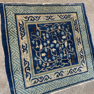 "Chinese Square Mat - 30"" x 28"" - 77 x 72 cm - could use a wash - reasonable reduced price"