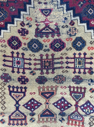 Funky Antique Southeast Anatolian Prayer rug, circa 1875 - 3'4 x 4'11 -102 x 150 cm.