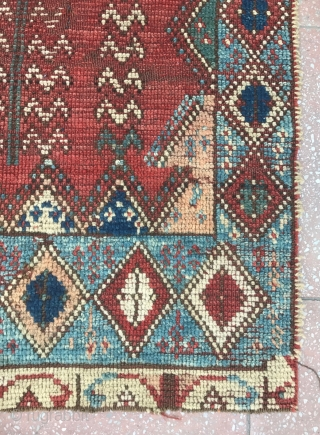 Two fragments from an early Rabat carpet , really Beautiful and Very Rare ! Circa : 1800 or before ? 