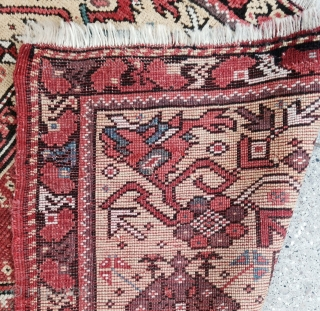 Small size Melas Prayer Rug , Some old repairs on heads as in photos but complete and nice ! Good quality , please don't ask for more Photos :-) Thanks. Size : 127x97 circa : 1850s  ...