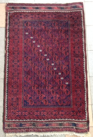 A very charming Baluch Rug with a nice pile and wool. 