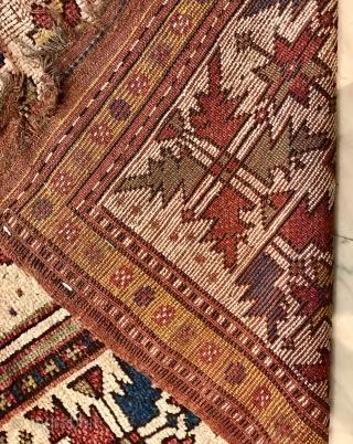Manastir Balkan prayer rug, damaged  150 x 113 cm