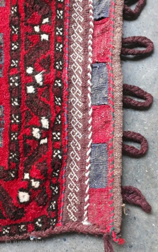 Beautiful vintage baluchi balisht from Afghanistan. Almost 50 years old. Size 85x55 cm