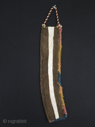 "Shahsavan scissors bag. Size: 3.7"" x 18"" - 9.5 cm x 46 cm."
