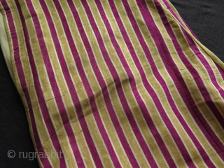"""Ottoman silk koynek. Circa late 19th century.  Cotton lining. Very little worn area and a few small stains.  Size: Height 53.1"""" - 135 cm Skirt 45.2"""" - 115 cm and Arm to  ..."""