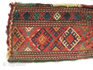 "Shahsavan spindlebag. (Only the bag is for sale). Size: 8"" x 16.5"" - 21 cm x 42 cm."