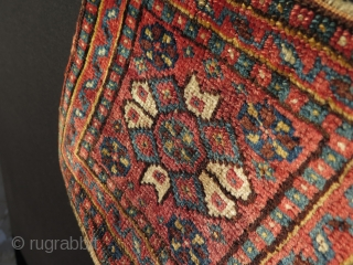 """South West Persian small bagface. Great silky wool, all natural colors. Size: 12"""" x 10"""" - 30 cm x 26 cm."""