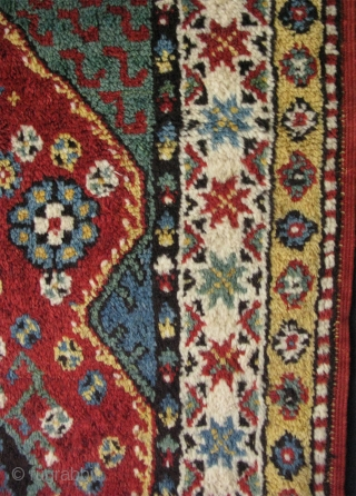 "19th century Dazkiri rug. Some minor repairs. Size: 50"" x 72"" - 128 cm x 183 cm."