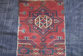 "Turkmen Ersary torba fragment. very small area restored on top, can beseen on back side image. great natural colors. circa late 19th. size : 16"" by 12"" - 41 cm X 30  ..."