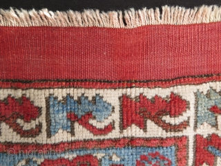 West Anatolian Kozak bagface. Minor repairs on the top kilim part. Pile has no repairs.