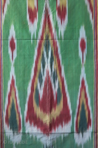 "Iran Yazd silk ikat. traditional tree design. Great condition with silk facing. hanging silk loops are still on. Circa 1900-1920. Size : 77"" X 46"" - 195 cm X 117 cm"