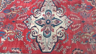 Persian Carpet size 320 cm 210 cm .With excellent natural dyes circa 1920 .