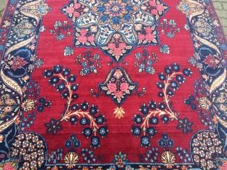Fine antique Persian Yazd carpet, age: circa 1920, size: ca. 335x185cm / 11ft x 6'1''ft