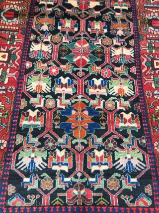 Antique Persian Bakhtiary long rug in good and clean condition, age: circa 1920, size: ca. 310x135cm / 10'2''ft x 4'4''ft