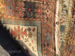 Antique Caucasian Akstafa prayer rug, age: circa 1860. Size: 180x80cm / 6ft x 2'6''ft
