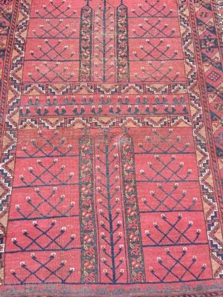 Antique Turkmen Ersari Ensi with beautiful Elem (skirt), size: ca. 205x140cm / 6'8'' x 4'6''ft
