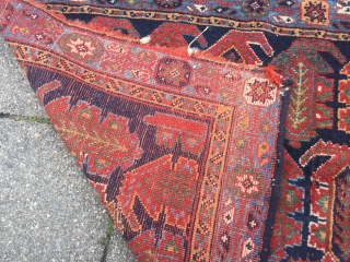 Very nice large Afshar bagface, 19th century, all natural colors, age: 19th century, size: 78x55cm / 2'6''ft x 1'8''ft